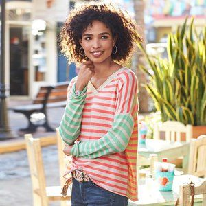 Sundance Languid Stripe Pullover Sweater Cotton
